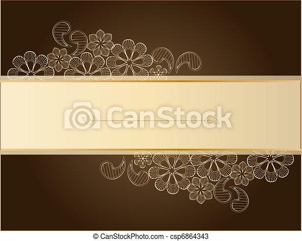 marrom, renda - csp6864343