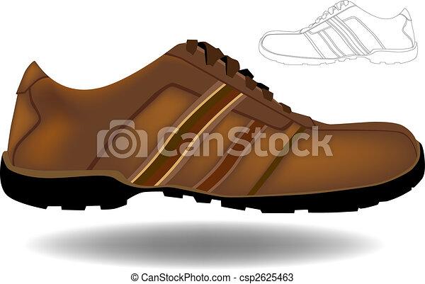 marrom, sapato - csp2625463