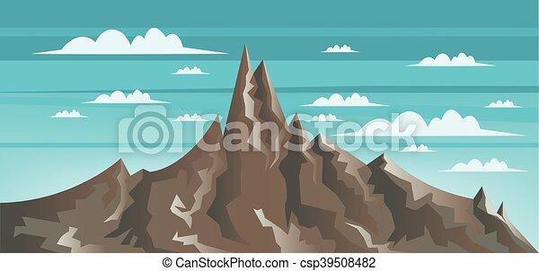 marrone, astratto, monte, paesaggio - csp39508482