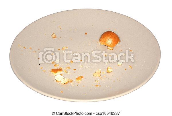 marrone, briciole, piastra - csp18548337