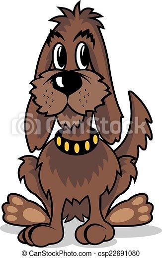 Marrone cartone animato cane marrone isolato cane fondo