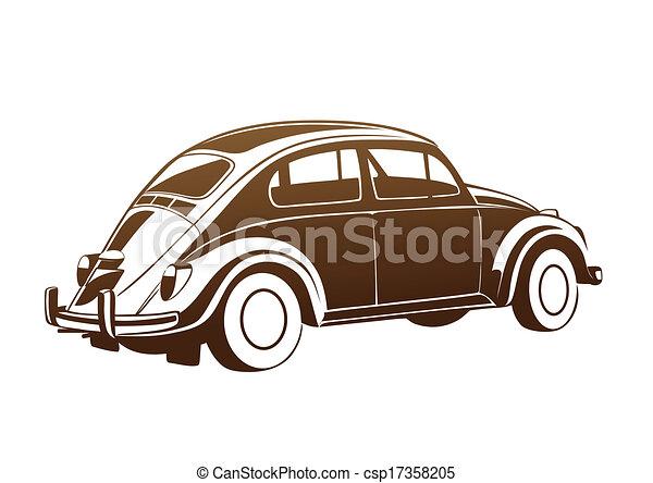 marrone, dolce, vecchio, auto - csp17358205
