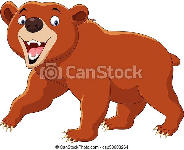 Marrone isolato orso fondo bianco cartone animato marrone