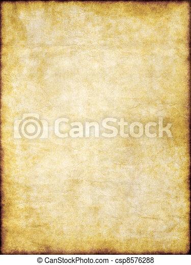 marrone, vecchio, vendemmia, struttura, carta, giallo, pergamena - csp8576288