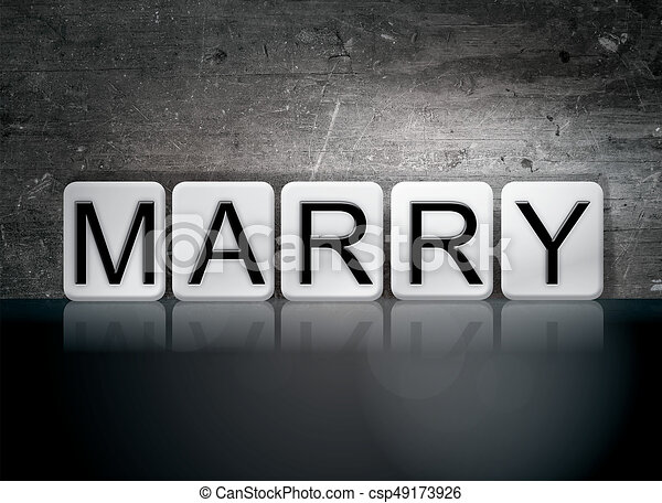 Marry Concept Tiled Word - csp49173926