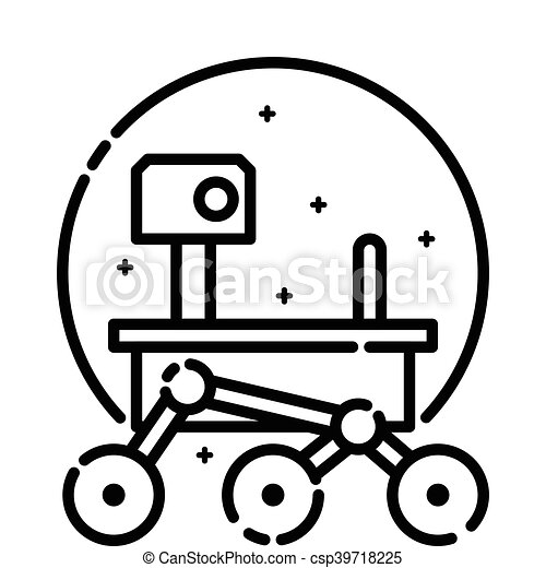 mars rover in space vector outline icon vector illustration rh canstockphoto com clipart of marijuana clipart of marketing