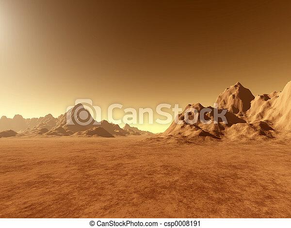 Mars surface 1 - csp0008191