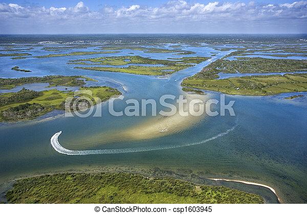 marsh., wetland , ακτοπλοϊκός  - csp1603945