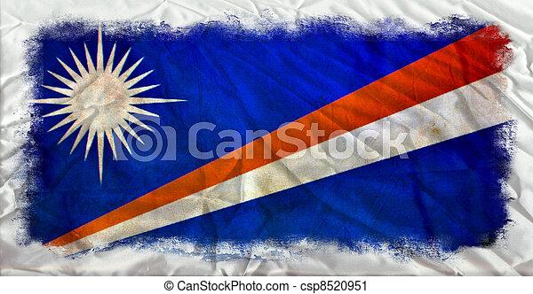 Marshall islands grunge flag - csp8520951