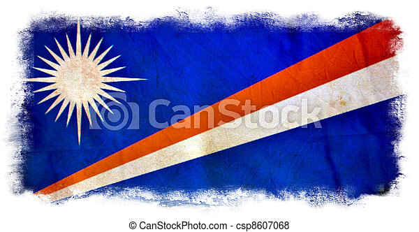 Marshall islands grunge flag - csp8607068