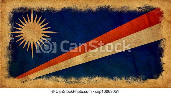 Marshall islands grunge flag - csp10063051