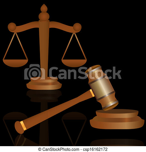 marteau, balances, justice - csp16162172