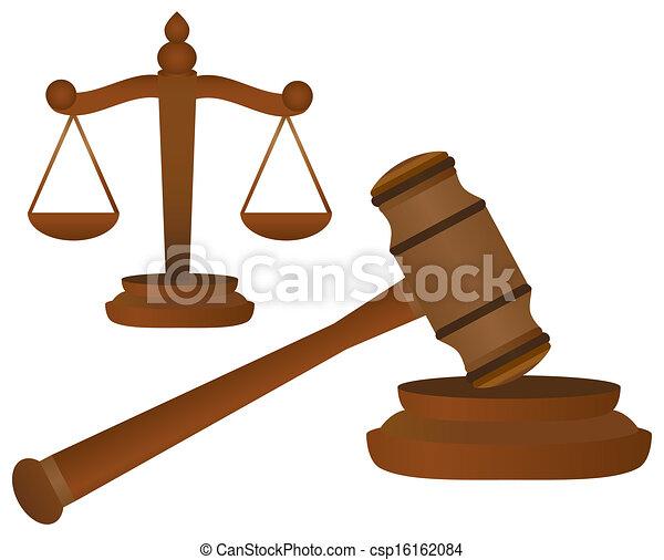 marteau, balances, justice - csp16162084