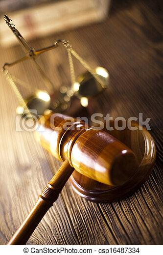 marteau, droit & loi, échelle, légal - csp16487334