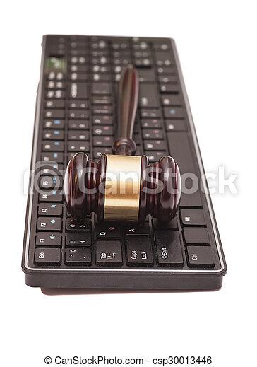 marteau, informatique, noir, clavier - csp30013446