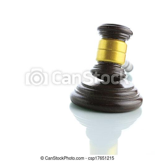 marteau, juge, blanc, isolé, fond - csp17651215