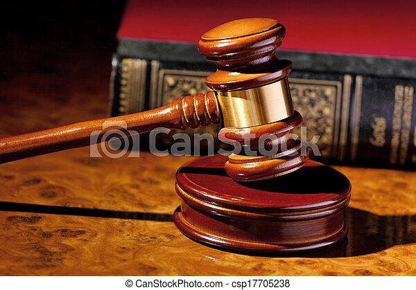 marteau, juge, tribunal - csp17705238