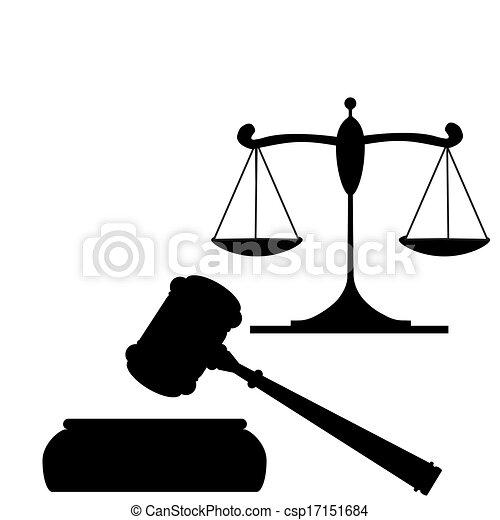 marteau, justice, balances - csp17151684