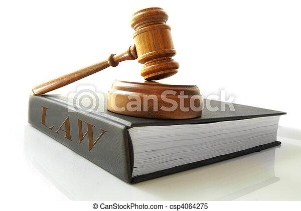 marteau, livre, légal, droit & loi - csp4064275