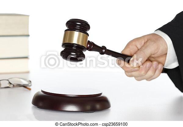 marteau, tribunal, symbolique - csp23659100