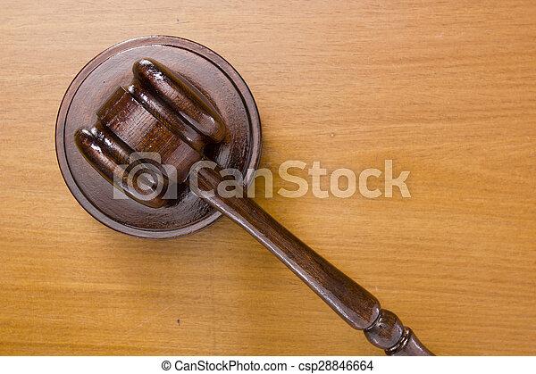 marteau, utilisé, tribunal - csp28846664