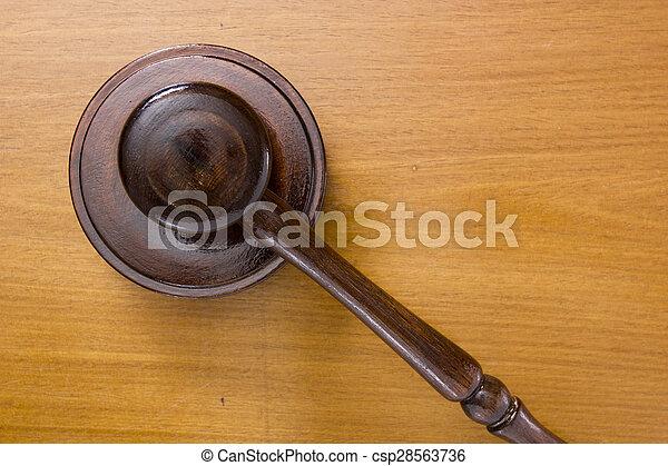 marteau, utilisé, tribunal - csp28563736