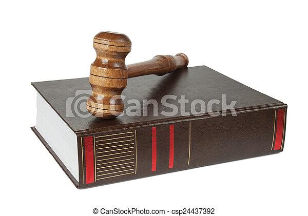 martelletto, legno, soundblock, libro, spesso - csp24437392