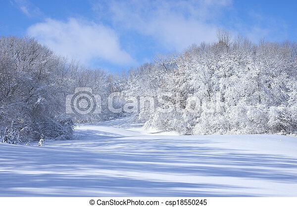 Marthaler Park Snowy Hills - csp18550245