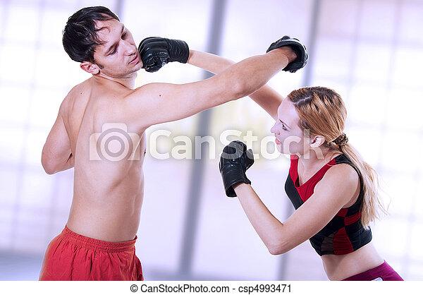 martial art. self-defense woman training. - csp4993471