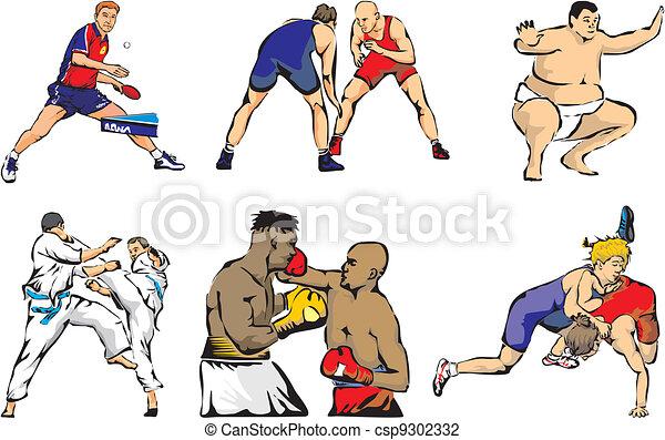 martial arts, -, figuren, sporten - csp9302332