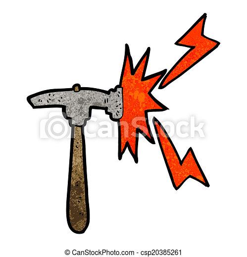 martillo, caricatura - csp20385261