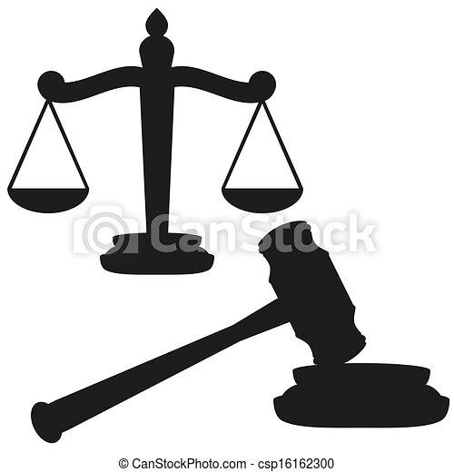 Escamas de justicia y martillo - csp16162300