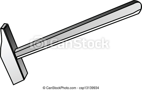 martillo, herramienta, construcción, - - csp13139934