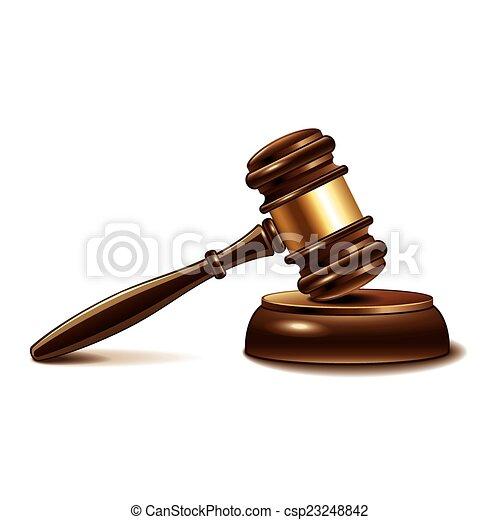 El juez diol aislado en vector blanco - csp23248842