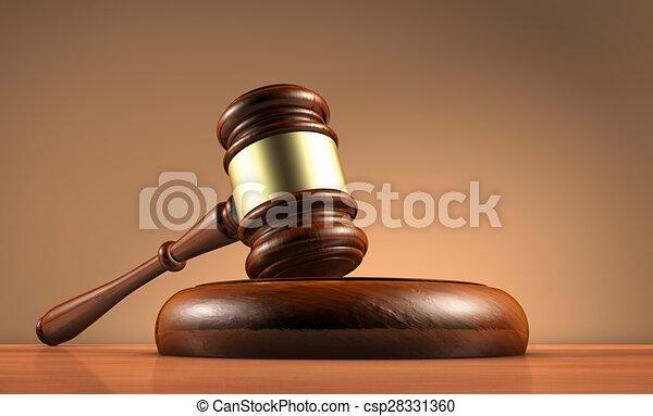 El juez de ley diol y el símbolo legal - csp28331360