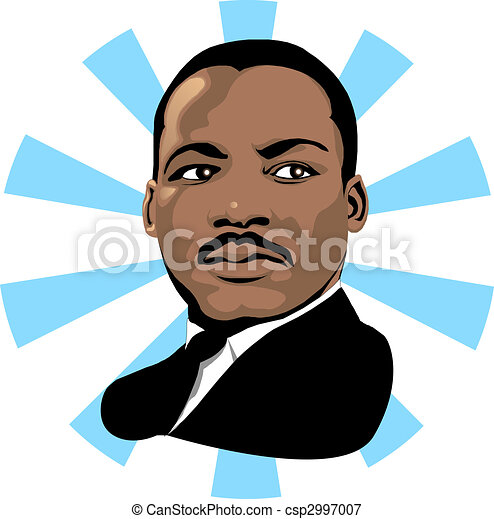 martin luther king 2 vector for martin luther king day or black rh canstockphoto com martin luther king clip art free martin luther king clip art