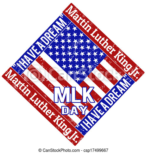 Martin Luther King Day Stamp Martin Luther King Day Grunge Rubber