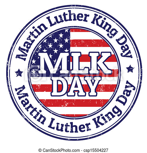 Martin Luther King Day stamp - csp15504227