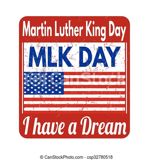 Martin Luther King Day stamp - csp32780518