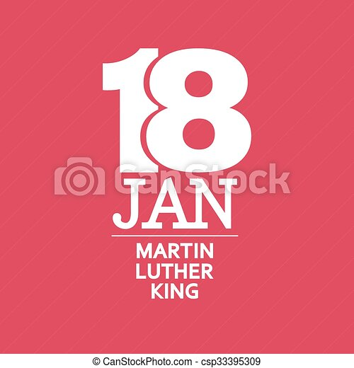 Martin Luther King Day. Vector illustration - csp33395309