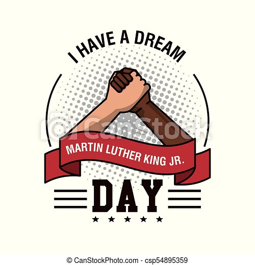 martin luther king jr day icon vector illustration graphic