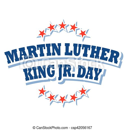 Martin Luther King Jr Day Logo Symbol Isolated On White Background