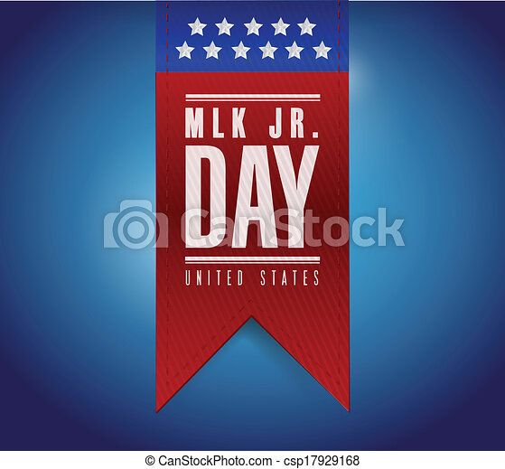 martin luther king jr day sign banner. - csp17929168