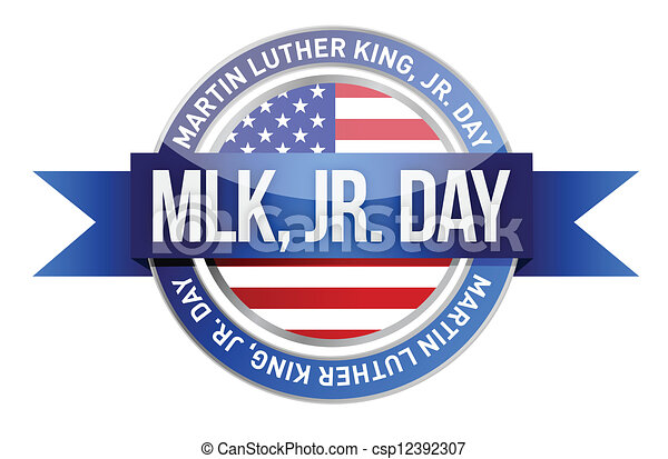 Martin luther king jr. us seal and banner - csp12392307