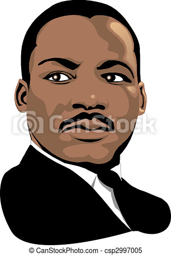 vector martin luther king for black history month or mlk day