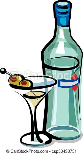 martini cocktail with olives - csp50433751