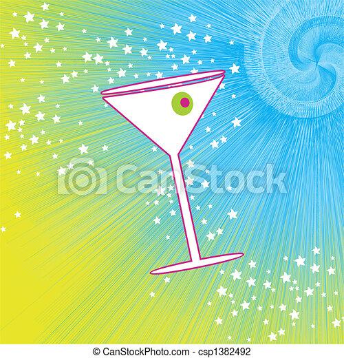 Martini drink glass - csp1382492