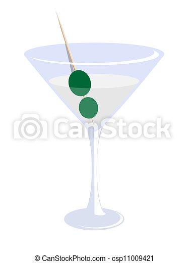 martini glass - csp11009421