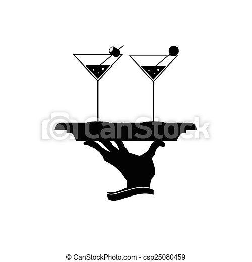 martini vector illustration - csp25080459