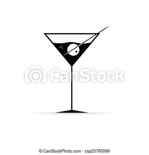 Martini Olive Clipart